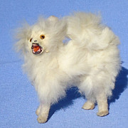 antique fur Spitz Samoyed Pomeranian dog French fashion doll Germany 3""