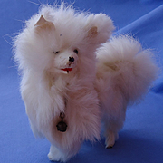 Spitz Samoyed mechanical salon dog  French fashion doll 6""