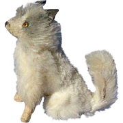 "antique Spitz Samoyed sitting  salon dog Fripon terrier French fashion doll Germany 3"""