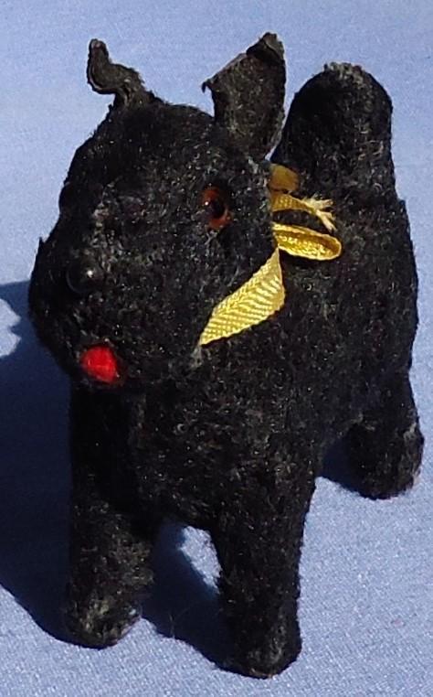 "1940s Scottish terrier salon dog French fashion doll USZ Germany 3"""