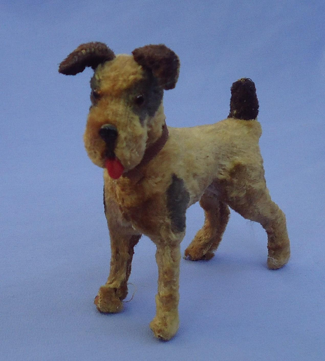 1940s Fox terrier Airedale 4 French fashion doll Germany