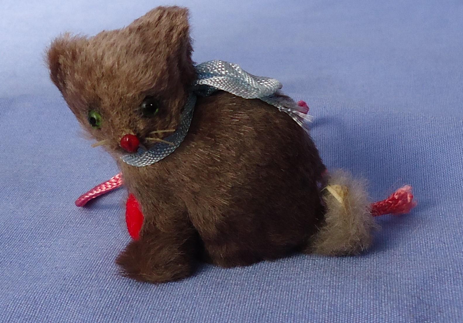 """1940s salon grey cat French fashion doll USZ Germany 3"""""""