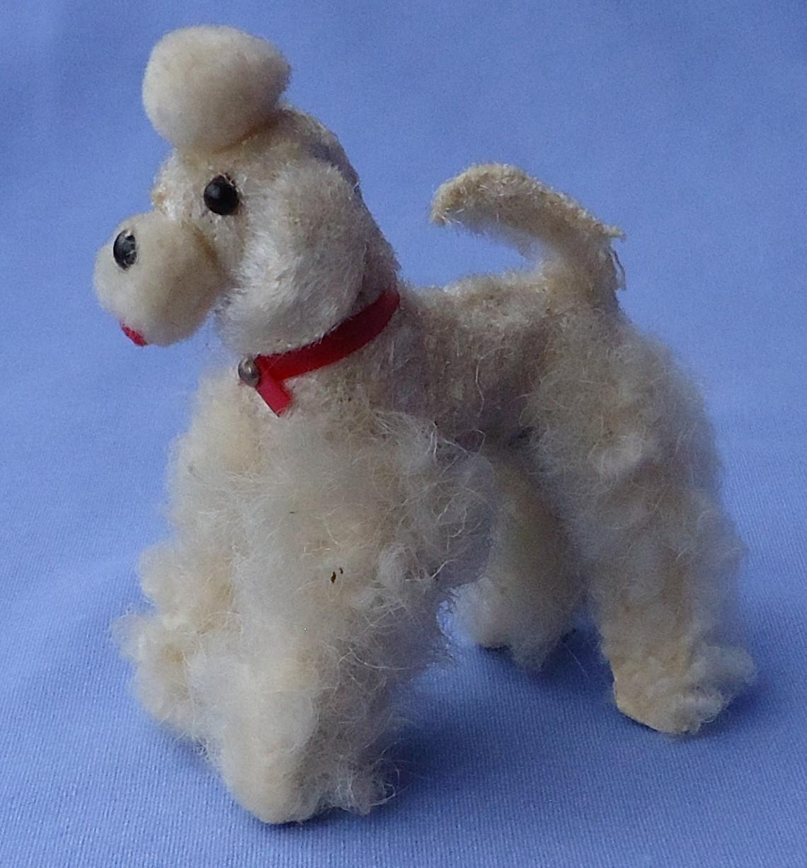 fur Poodle salon dog Germany label  French fashion doll 3""