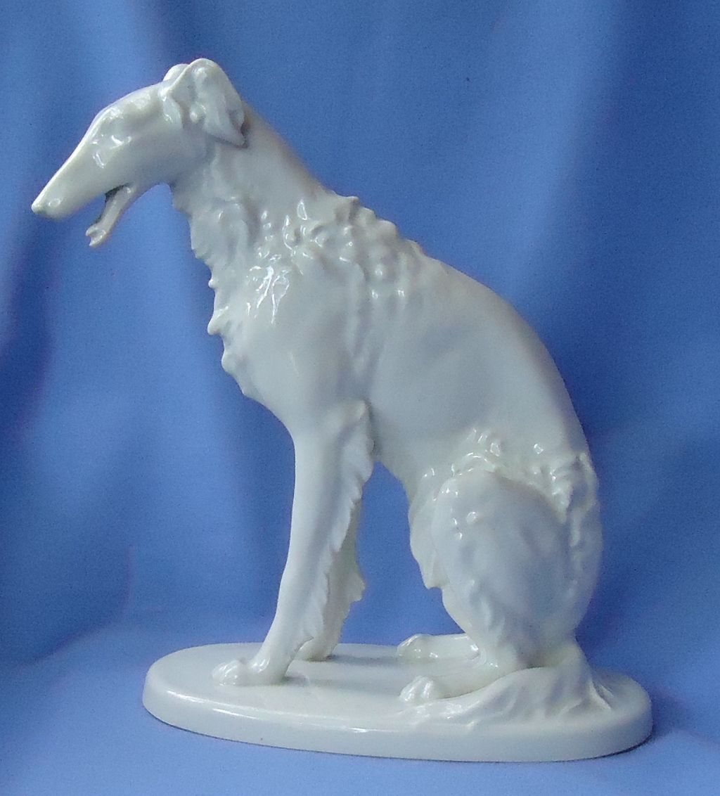 1920 art deco Borzoi Germany 11""