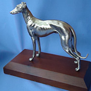 art deco silver plt Italian greyhound Whippet WB