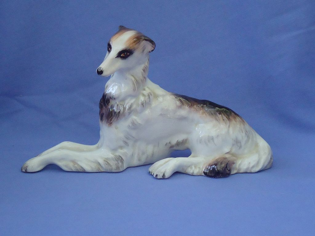 Wedgwood  tri color borzoi 7""