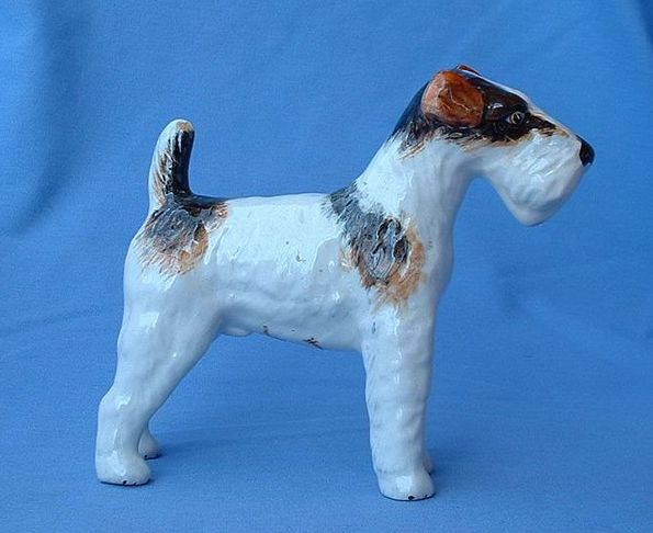 Wedgwood England Fox terrier jack russell 6""