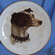 old Dresden plate Italian Greyhound Whippet