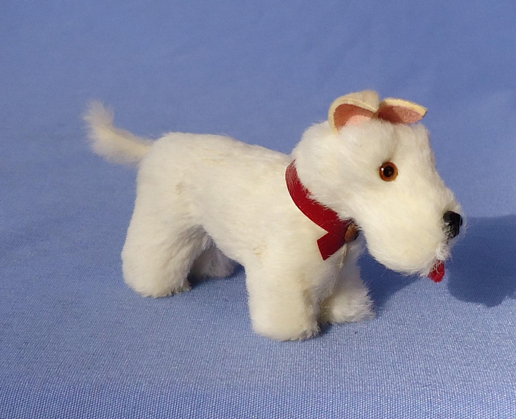 "antique Germany fur Scottish terrier Scotty salon dog 4"" French fashion doll label"