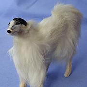antique German fur prancing Borzoi for French fashion doll 5""