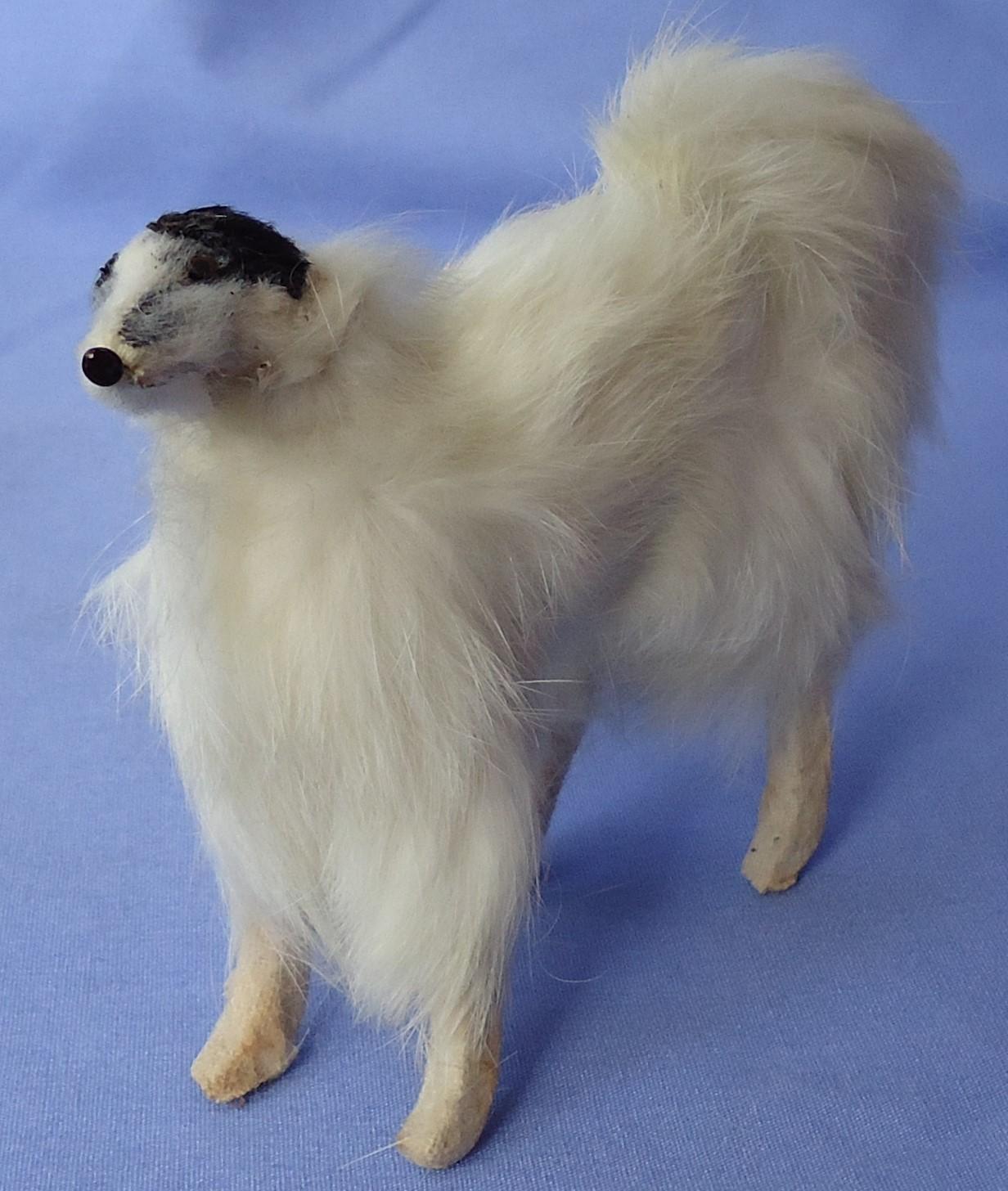 "antique German fur prancing Borzoi for French fashion doll 5"""