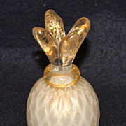 Unusual Shaped Pineapple Murano Perfume Bottle