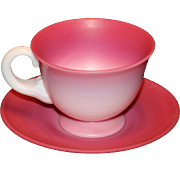 Gunderson Peachblow Cup and Saucer