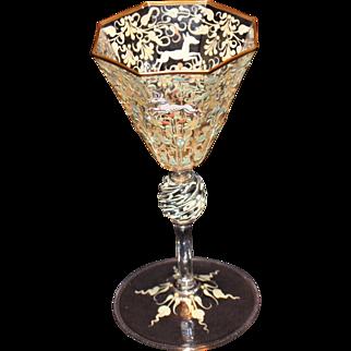 Salviati - Moser Canine and Foliate Goblet