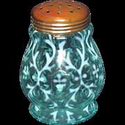 Northwood Spanish Lace Blue Opalescent Sugar Skaker