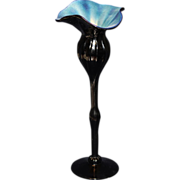 Art Glass Flower Formed Vase 12""