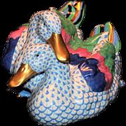 Large Herend Fishnet Ducks