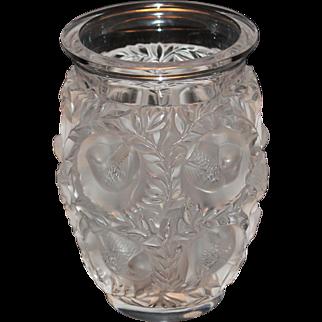 Lalique Bagatelle Vase with Lovebirds