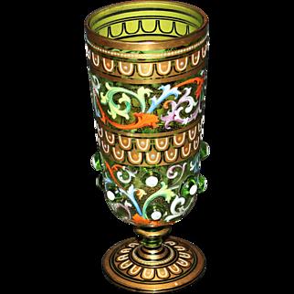 Bohemian Czech Enemeled Vessel/Chalice