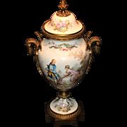 Wonderful Vintage Sevres Urn Artist Signed