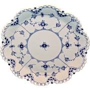 Royal Copenhagen Blue Fluted Full Lace Cake Plate 1/1062
