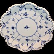 Royal Copenhagen Blue Fluted Full Lace Cake Plate 1/1062