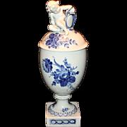 Royal Copenhagen Blue Flower Nude Figural Urn 10/1754