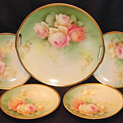 Beautiful RS Germany Roses Dessert Set