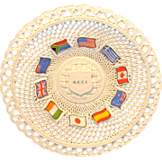 "Belleek Basket Weave ""Chapter"" Plate-Very Limited Edition"