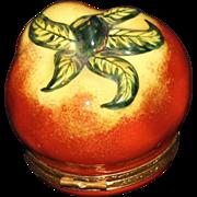 Limoges Peint Main Tomato Box