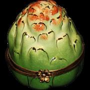 Limoges Peint Main Artichoke Box