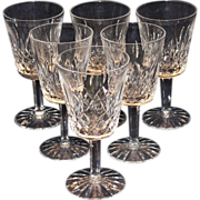Waterford Set of 6 Lismore Water Goblets
