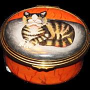 Halcyon Day Enamels Kitten Box