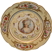 Lovely Sevres Princess Lamballe Portrait Plate