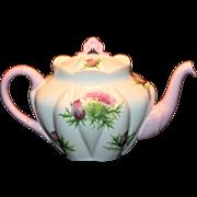 Vintage Shelley Thistle Large Teapot