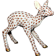 Herend Fishnet Deer Fawn -  Marked First Edition