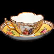 Adolph Hamann Quatrefoil Cup & Saucer c. 1893