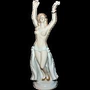 Beautiful Wallendorf Art Deco Partially Nude Dancer