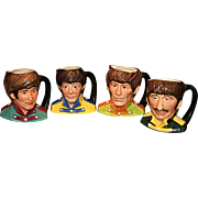 Set of Four Royal Doulton Beatles Jugs  1984