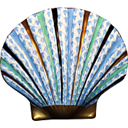 Herend Fishnet Scallop Shell Made In Hungary