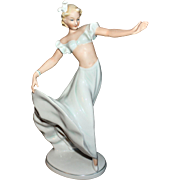 Lovely Schau Bach Kunst Art Deco Dancer Figurine Made In Germany