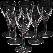 """Baccarat Genova 6 1/2"""" Wine Goblets - Set of 6"""