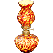 VIntage Beaded Swirl End of The Day Miniature Lamp