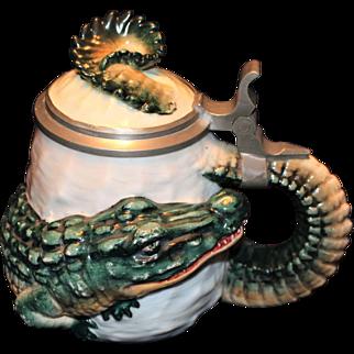 Ernst Bohne Alligator Character Stein c 1900