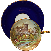 Scarce Aynsley Windsor Castle Cup And Saucer