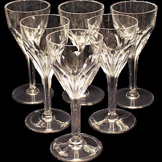 St Louis Bristol Water Goblets - Set of 6