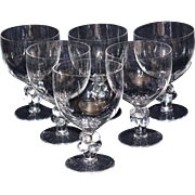 "Lalique Clos Vougeot 6 3/4"" Goblets-Set of Six"