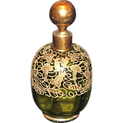 Moser Gilt Trumpet Lily Perfume Scent Bottle