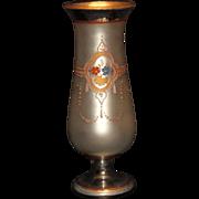 "12"" Hand Painted Mercury Glass Vase"