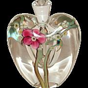 Zellique Studios Cased Art Glass Perfume Bottle